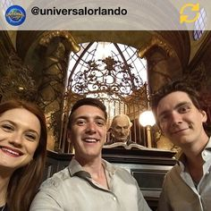 James & Oliver Phelps and Bonnie Wright at Gringotts!