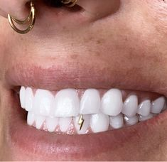 Halo Beauty Collective Long Beach, CA online booking available Cute Jewelry, Body Jewelry, Jewelry Accessories, Tooth Jewelry, Girl Grillz, Tooth Gem, Gold Teeth, White Teeth, Fake Piercing