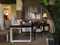 The experts at HGTV.com share creative tips on how to incorporate brown into your home decor.