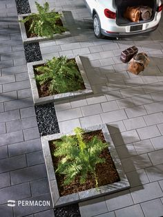 Pavers - Pavement and Garden Center R.P Montreal landscaping supplies - Pavers – Pavement and Garden Center R.P Montreal landscaping supplies - Front Garden Ideas Driveway, Driveway Design, Driveway Landscaping, Modern Landscaping, Landscaping Tips, Back Garden Design, Backyard Garden Design, Back Gardens, Outdoor Gardens