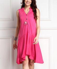 Love this Fuchsia Drop Waist Hi-Low Dress on #zulily! #zulilyfinds