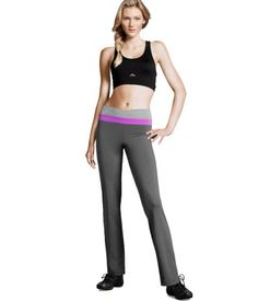 WOMEN'S SPORTS PANTS. Fashionable sweat pants you can show off at the gym or just wear them comfortable exercising in your room:) Straight-cut sports pants in fast-drying, functional stretch jersey fabric with a rib-knit waistband. H are always environmentally conscious with their products:) Only $24.95! #greendorm