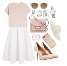 """""""Untitled #1387"""" by katerina-rampota ❤ liked on Polyvore featuring Keepsake the Label, Brunello Cucinelli, Salvatore Ferragamo, Alexis Bittar, French Connection, TOMS, MICHAEL Michael Kors, Jennifer Ouellette, Diptyque and Laura Mercier"""