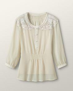 $41.99 Vintage lace tunic - [K13523]