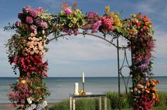 Luxury special wedding setting by the beach