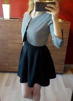 Kup mój przedmiot na #vintedpl http://www.vinted.pl/damska-odziez/bolerka/14865397-bolerko-wzor-pepitka-czarny-bialy