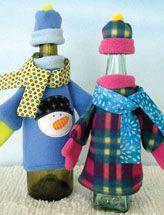 Coat, Hat, Scarf & Mitten Sets for Bottles