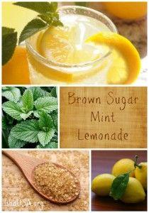 Brown Sugar Mint Lemonade