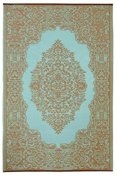 Fab Habitat Istanbul Indoor/Outdoor Rug, Fair Aqua and Warm Taupe **PIN THIS** to return later or **CLICK HERE** to view size options http://www.perfect-gift-store.com/blue-outdoor-patio-rugs.html #giftpins