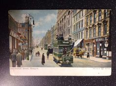 Glasgow Sauchiehall Street 1904 Vintage Original Postcard Scotland