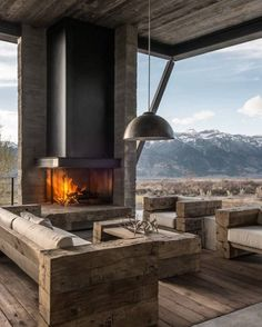 8e8dabc0f3c Mountain Style Patio - Outdoor Living Areas Cozy Fireplace, Fireplace  Garden, Fireplace Furniture,