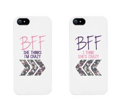 Best Friends Phone Cases - BFF Floral Phone Covers for iphone 4, iphone 5, iphone 5C, iphone 6, iphone 6 plus, Galaxy S3, from Amazon