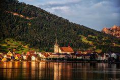 Schweiz, Kanton Schwyz, Zugersee, Blickrichtung Arth