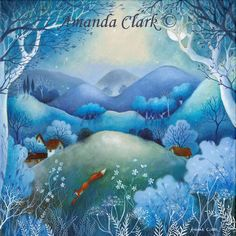 A new original painting by Amanda Clark Clark- art gallery, original paintings Cicely Mary Barker, Illustrations, Illustration Art, Edith Holden, Clark Art, Fox Art, Acrylic Painting Canvas, Painting Inspiration, Amazing Art