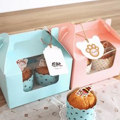 Pink And Blue color Baking packaging bottle cup muffin pudding portable Cup Cake Box with handle wholesale price Cake Boxes Packaging, Cupcake Packaging, Baking Packaging, Dessert Packaging, Food Packaging Design, Packaging Company, Cupcakes Packaging Ideas, Bottle Packaging, Dessert Boxes