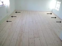 A Newbie's Guide to Plywood Plank Flooring: Prepping and Laying the Boards - Shark Tails Part 1 another very good DIY On plank floors. GOod info on sanding the boards a nice before and after shot of that. Plywood Plank Flooring, Basement Flooring, Diy Flooring, Hardwood Floors, White Flooring, Terrazzo Flooring, Stone Flooring, Ply Wood Flooring, Bathroom Flooring