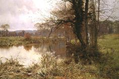 Edward Wilkins Waite - 'When Autumn to Winter Resigns the Pale Year' 1892