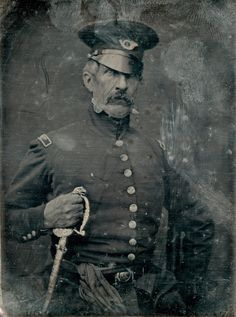 """Col. Hamtramck, Virginia Volunteers."" Daguerreotype portrait of an American colonel who fought in the Mexican-American War, c. 1847."