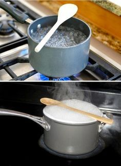 25 Impressive Kitchen Hacks And Cooking Tips Ikea Hack Kitchen, Kitchen Gadgets, Kitchen Tips, Hacks Cocina, Wood Spoon, Home Hacks, Diy Hacks, Cooking Tips, Tin