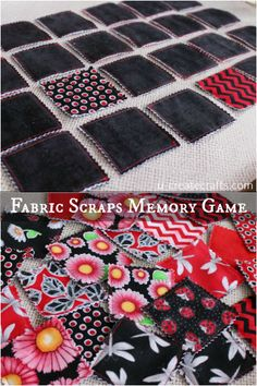 Fabric Scraps Memory Game Tutorial