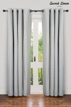 Buy Secret Linen Store Teasels Grey Eyelet Curtains from the Next UK online shop Grey Eyelet Curtains, Next Official, Linen Store, Next Uk, Uk Online, Shopping, Home, Bedroom, Snug