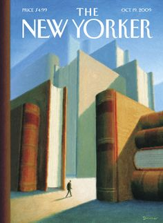 The New Yorker Cover - October 19, 2009 - In The World Of Books by Eric Drooker