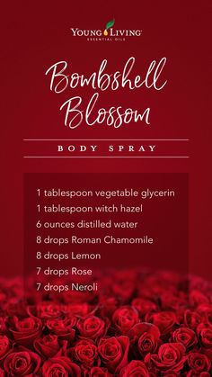 Make your own without all the chemicals! body spray includes Roman Chamomile, Lemon, Rose and Neroli essential oils! Essential Oil Combos, Rose Essential Oil, Essential Oil Perfume, Essential Oil Diffuser Blends, Young Living Essential Oils, Perfume Oils, Diy Perfume Recipes, Homemade Perfume, Diffuser Recipes