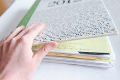 Paper Raindrops: Finished art journal & book binding DIY!