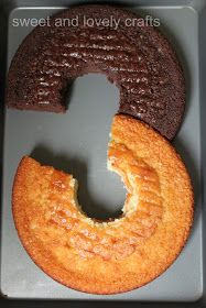 2 round cake pans, use a large circle cutter for the middle, piece together