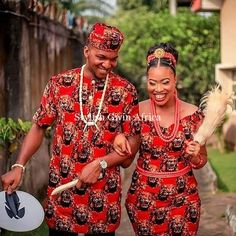 Check Out These Trendy Isi Agu Attires For Couples And Singles Nigerian Traditional Dresses, African Traditional Wedding Dress, Traditional Wedding Attire, Traditional Weddings, African Wear, African Attire, African Dress, African Clothes, African Style