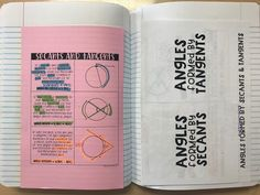Newell's Math: Angles Formed by Secants and Tangents Geometry Interactive Notebook, Interactive Notebooks, Math Classroom, Future Classroom, Classroom Ideas, Secondary Math, Fun Math, Angles, Algebra 2