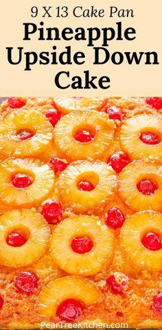Pinapple Cake, Pineapple Upside Down Cupcakes, Pineapple Desserts, Best Pineapple Upside Down Cake Recipe From Scratch, Cake Recipes From Scratch, Cake Mix Recipes, Baking Recipes, Dessert Recipes, Easy Recipes