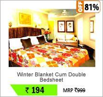 Winter Blanket Cum Double Bedsheet