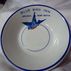 Ridgway's China Restaurant Ware Blue Bird Inn Butter Pat
