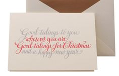 Winged-Wheel-Calligraphy-Holiday-Cards