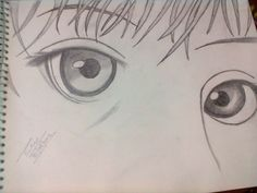 Tried to draw manga eyes..