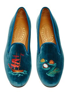 Happy Menocal Providencia Slipper by Stubbs & Wootton for Preorder on Moda Operandi Smoking Slippers, Me Too Shoes, Crazy Shoes, Beautiful Shoes, Types Of Fashion Styles, Loafers Men, Fashion Shoes, Men's Fashion, Casual Shoes