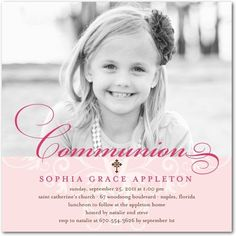 1st communion invites