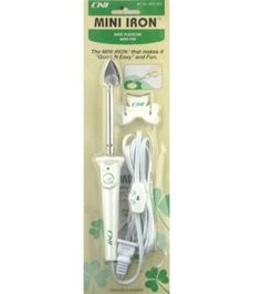 """The Clover Mini-Iron: Great for fusing small applique pieces or quick bias. I also use it as an """"eraser"""" when I'm sketching on fabric with a Frixion pen."""