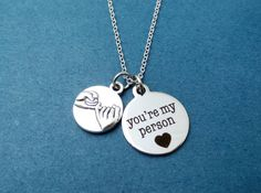 Pinky promise, You're my person, Silver, Necklace, Birthday, Lovers, Best friends, Gift, Jewelry