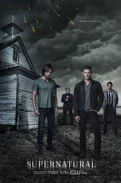 Supernatural (TV series, 2005 to present): Two brothers (Jensen Ackles as Dean Winchester and Jared Padalecki as Sam Winchester) fight different kinds of evil supernatural beings. Castiel, Supernatural Fans, Supernatural Jensen Ackles, Supernatural Poster, Crowley, Supernatural Pictures, Supernatural Wallpaper, Comic Con, Celebrity