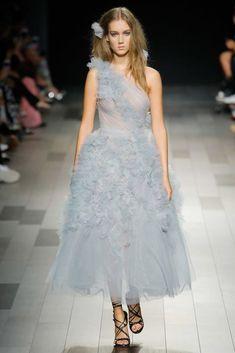 543e2351ba0df MARCHESA COUTURE ONE SHOULDER TULLE MIDI TEA GOWN.  marchesa  cloth    Designer Gowns