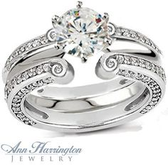 Vintage Style Ring Guards | ... , Yellow Gold or Platinum 7/8 ct tw Diamond Antique Style Ring Guard
