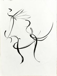 태권도-돌려차기 하는 동작을 연속적으로 그렸다_붓펜.