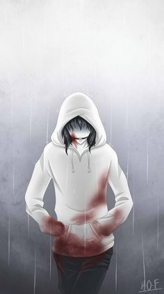 Jeff the killer -Rainy Day (GIF) by House-0f-Freak