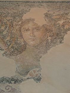 The so called Mona Lisa of the Galilee is part of an early mosaic in Tzippori (Israel, of course).  I find it's resemblance to the widely known Da Vinci Gioconda shocking and intriguing.