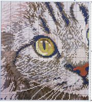 Cat cross stitch, 1 of 2 Cross Stitch Pillow, Cross Stitch Bird, Cross Stitch Animals, Cross Stitch Charts, Cross Stitch Designs, Cross Stitch Patterns, Quilt Patterns, Cat Cross Stitches, Cross Stitching