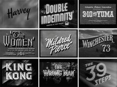 Movie Titles: I am a freak for anything vintage. Love thirties/forties movie titling