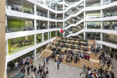 Common areas at VIA University College Aarhus City by Arkitema Architects © Niels Nygaard - Inspiration for University Campus in Middle East by SI Architects