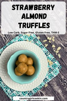 Strawberry almond truffles will become your go-to protein snack after just taking one bite! These truffles are sweet, yet sugar free…nutritious, yet delicious…and filled with protein! When you need a bit of energy, reach for one or two truffles. It's the perfect little low carb snack! #strawberry #almond #truffle #protein #healthy #sugarfree Peanut Butter Truffles, Peanut Butter Protein, Peanut Butter Banana, Walnut Butter, Truffle Butter, Sugar Free Treats, Sugar Free Desserts, Low Carb Sweets, Low Carb Desserts